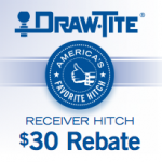 Draw-Tite Offers a $30 Rebate on Trailer Receiver Hitches