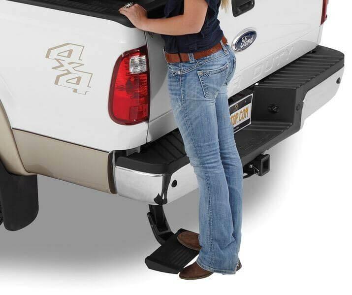 bestop trekstep rear bumper steps